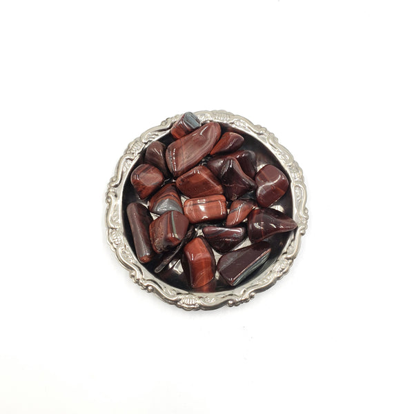 Red Tiger Eye Tumbled Stone
