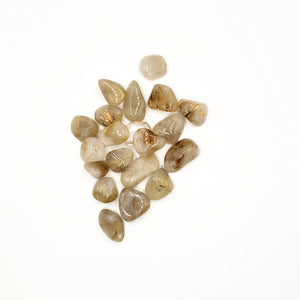 Rutilated Quartz Tumbled Stone - Tumbled Stones