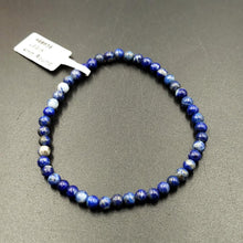 Load image into Gallery viewer, Lapis Lazuli Bead Bracelet 4mm