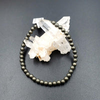 Pyrite Bead Bracelet 4mm