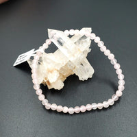 Rose Quartz Bead Bracelet 4mm