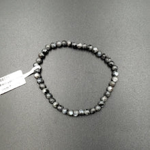 Load image into Gallery viewer, Black Labradorite Bead Bracelet 4mm
