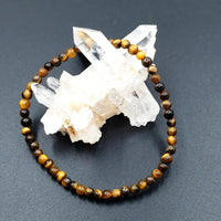 Tiger Eye Bead Bracelet 4mm - Bracelet