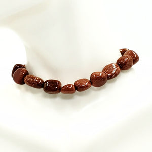 Goldstone Nugget Bracelet Red Goldstone Bracelet