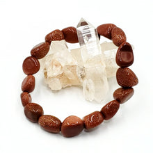 Load image into Gallery viewer, Goldstone Nugget Bracelet Red Goldstone Bracelet