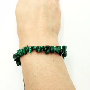 Malachite Chip Bracelet Synthetic Malachite