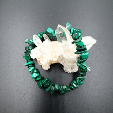 Load image into Gallery viewer, Malachite Chip Bracelet Synthetic Malachite