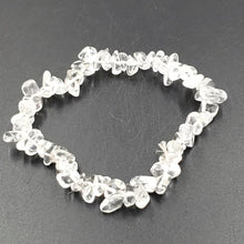Load image into Gallery viewer, Clear Quartz Chip Bracelet