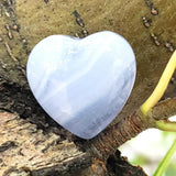 Blue Lace Agate Heart Stone