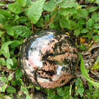 "Rhodonite Sphere 2.5"" 65 mm 19 oz 531 g"