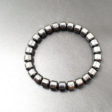 Load image into Gallery viewer, Hematite Barrel Bead Bracelet 8mm