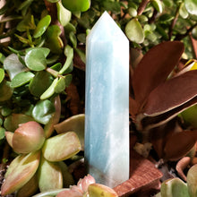 "Load image into Gallery viewer, Caribbean Calcite Tower Caribbean Calcite Point 112mm 4.4"" - Crystal/Stone Decor"