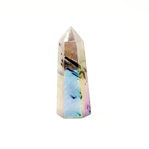 Aura Tourmalinated Quartz Tower Point 71mm 64g - Crystal/Stone Decor
