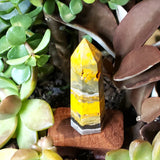 Bumble Bee Jasper Tower Point 82mm 76g - Crystal/Stone Decor