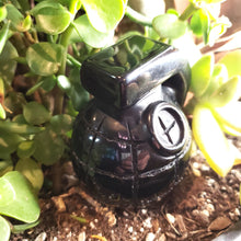 Load image into Gallery viewer, Black Obsidian Grenade Carving Figurine 310g 80mm - Figurine