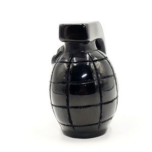 Black Obsidian Grenade Carving Figurine 310g 83mm - Figurine