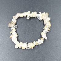 Rutilated Quartz Chip Bracelet - Bracelet