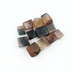 Yellow Fluorite Cube Tumbled Stone - Elevated Metaphysical