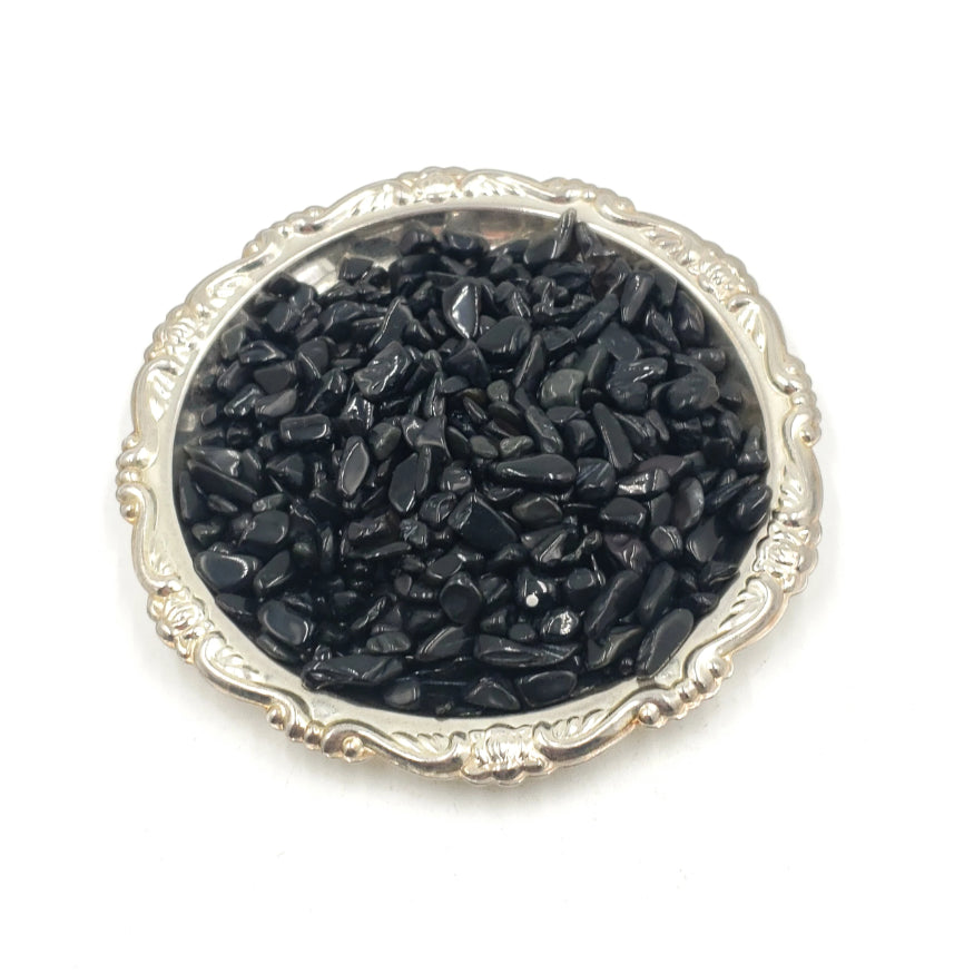 Black Tourmaline Chips - Elevated Metaphysical