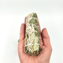 Load image into Gallery viewer, White Sage & Eucalyptus Smudge Wand Stick 4""