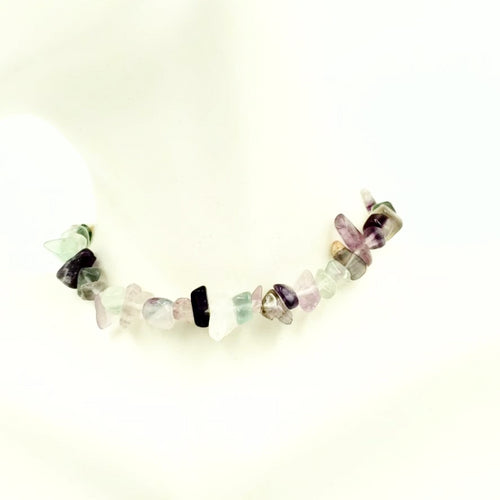 Rainbow Fluorite Chip Bracelet - Elevated Metaphysical