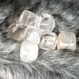 Clear Quartz Cube Tumbled Stone - Elevated Metaphysical
