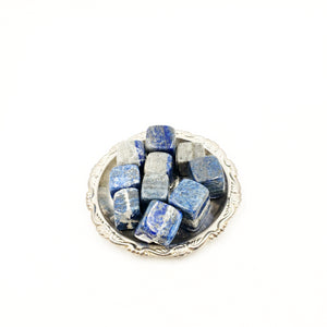 Lapis Lazuli Cube Tumbled Stone - Elevated Metaphysical