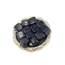Load image into Gallery viewer, Blue Goldstone Cube Tumbled Stone Blue Sandstone