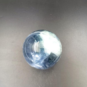 "Blue Fluorite Sphere 3"" 75mm 25oz 709g - Elevated Metaphysical"