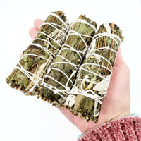 "White Sage & Peppermint Smudge Wand Stick 4"" - Elevated Metaphysical"