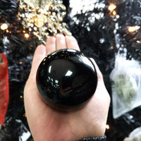 "Black Obsidian Sphere 2.3"" 58mm 8.3oz 235g - Elevated Metaphysical"