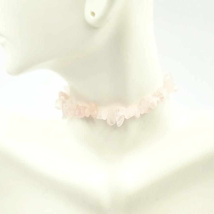 Rose Quartz Chip Bracelet - Elevated Metaphysical