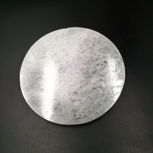 "Selenite Round Generator Plate 5"" - Elevated Metaphysical"