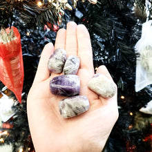 Load image into Gallery viewer, Chevron Amethyst Tumbled Stone - Elevated Metaphysical