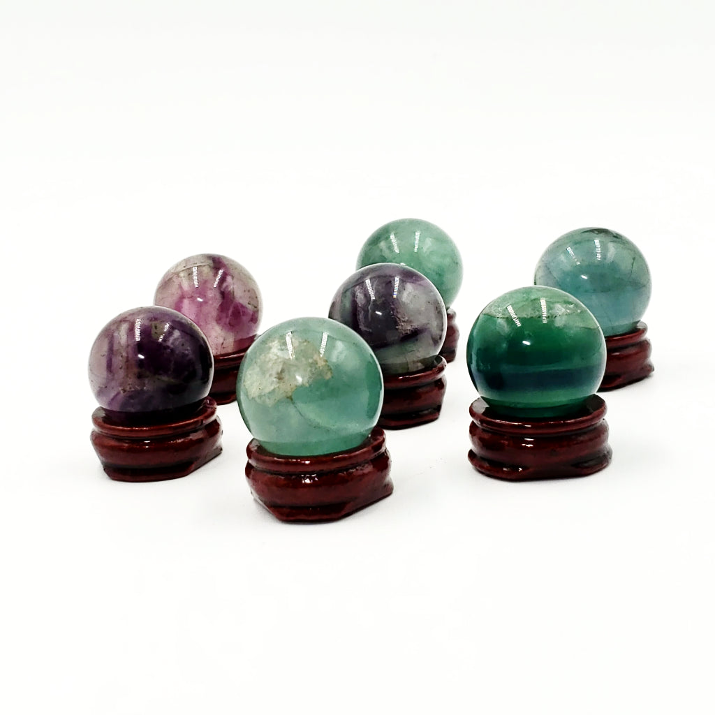 Rainbow Fluorite Sphere 30mm 45g - Elevated Metaphysical