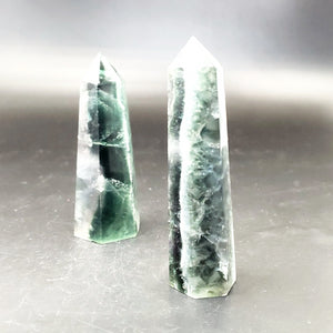 Emerald Fluorite Tower Point 85mm - Elevated Metaphysical