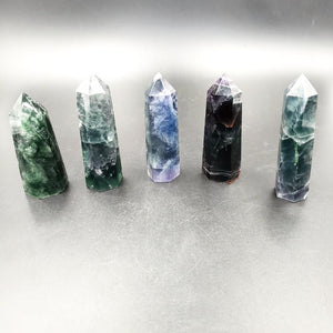 Blue Fluorite Emerald Fluorite Tower Point 75mm - Elevated Metaphysical