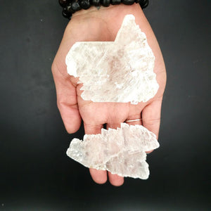 Selenite Fish Tail Angel Wings - Elevated Metaphysical