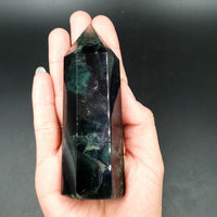 "Rainbow Fluorite Free-Form Crystal Stone 8.5oz 245g 4.15"" 105mm - Elevated Metaphysical"