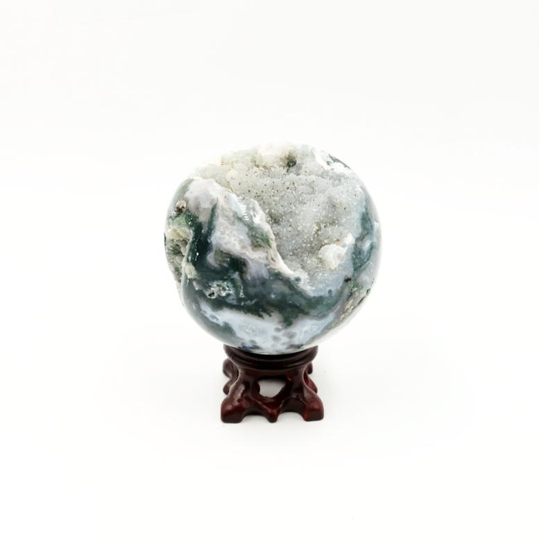 Moss Agate Sphere 2.75