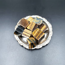 Load image into Gallery viewer, Tiger Eye Cube Tumbled Stone - Elevated Metaphysical