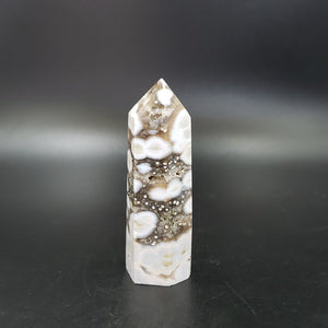 Ocean Jasper Tower Orbicular Druzy Point 85mm - Elevated Metaphysical