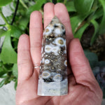 Load image into Gallery viewer, Ocean Jasper Tower Orbicular Druzy Point 85mm - Elevated Metaphysical