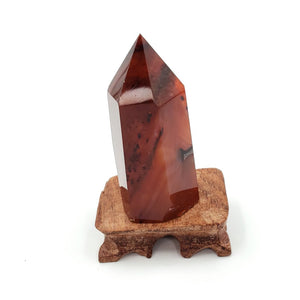Carnelian Tower Point 75mm - Elevated Metaphysical