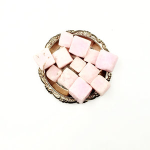 Pink Aragonite Cube Tumbled Stone Large - Elevated Metaphysical