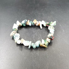 Load image into Gallery viewer, Moss Agate Chip Bracelet