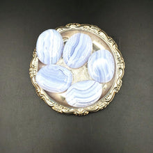 Load image into Gallery viewer, Blue Lace Agate Palm Stone