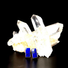 Load image into Gallery viewer, Lapis Lazuli Earrings Sterling Silver Stud