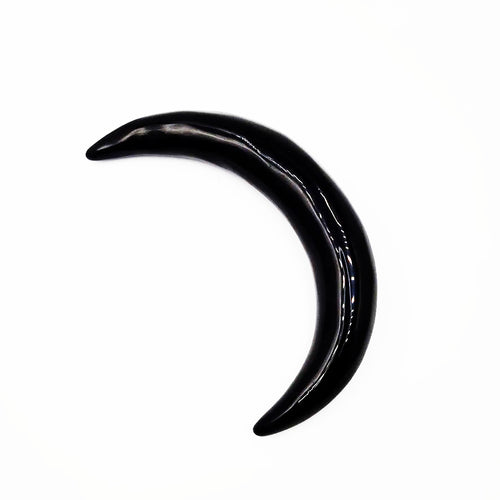 Black Obsidian Moon Crescent Moon
