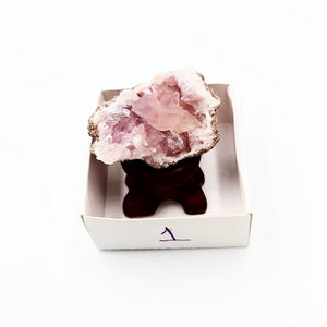 "Pink Amethyst Palm Geode Free Form ""S"" - Elevated Metaphysical"